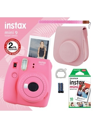 Fujifilm Instax Mini 9 Pembe Fotoğraf Makinesi ve Hediye Seti 3 Pembe